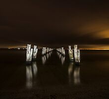 Old Pier at Dusk by SteveJollyPics