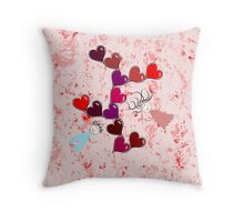 Floating in love with love Throw Pillow
