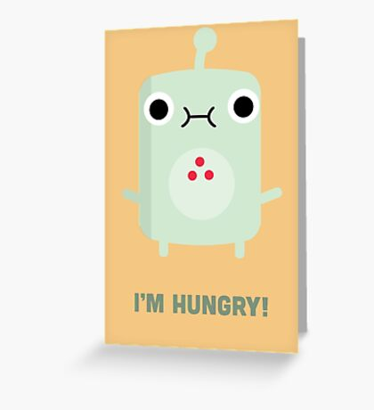 Little Monster - I'm Hungry! Greeting Card