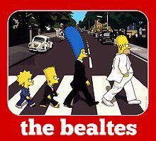 the beatles abbey road simpons edition  by shubberdesigns