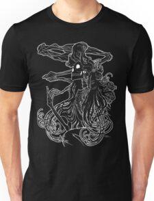 Mucha Nouveau Lines White Unisex T-Shirt