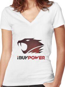 I Buy Power Women's Fitted V-Neck T-Shirt