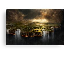 The Edge of Earth - Fantasy Flat Earth Canvas Print
