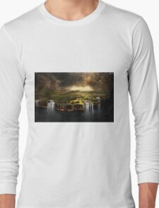 The Edge of Earth - Fantasy Flat Earth Long Sleeve T-Shirt