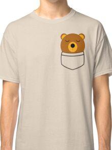 Napping pocket bear Classic T-Shirt