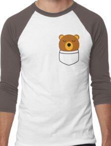 Napping pocket bear Men's Baseball ¾ T-Shirt