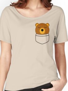 Napping pocket bear Women's Relaxed Fit T-Shirt