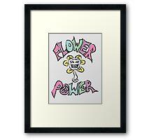 Flowe(y)r Power Framed Print
