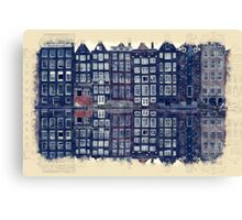 Amsterdam Watercolor And Sketch Canvas Print