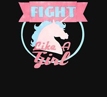 Fight Like A Girl - Unicorn Logo Women's Fitted Scoop T-Shirt