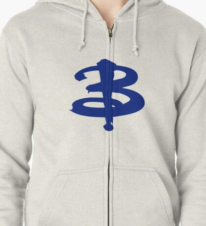 Buffy The Vampire Slayer 'B' v4.0 Zipped Hoodie