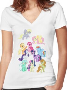 Pony Women's Fitted V-Neck T-Shirt