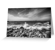 Cot Valley Porth Nanven 5 Black and White Greeting Card