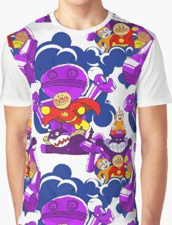 Anpanman Kid Handmade Seamless Pattern Graphic T-Shirt