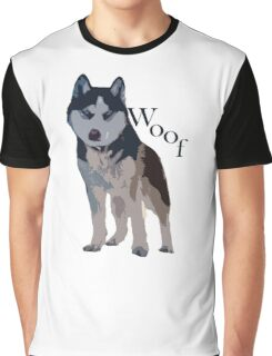 Woof - Siberian Husky Graphic T-Shirt