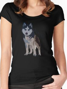 Woof - Siberian Husky Women's Fitted Scoop T-Shirt
