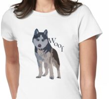 Woof - Siberian Husky Womens Fitted T-Shirt