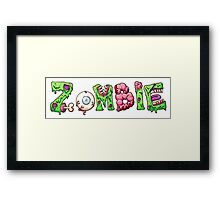 Zombie text letters Framed Print