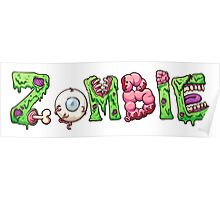 Zombie text letters Poster