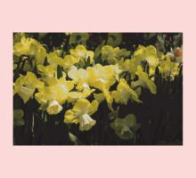 Sunny Daffodil Garden - Enjoying the Beauty of Spring One Piece - Short Sleeve