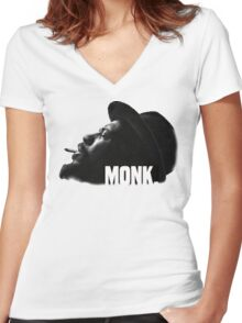 Thelonious Monk Women's Fitted V-Neck T-Shirt