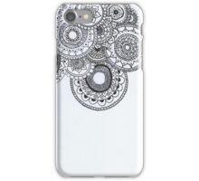 Spiral Mandala B&W iPhone Case/Skin