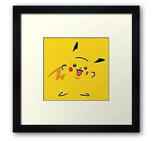 Flat Pikachu Framed Print
