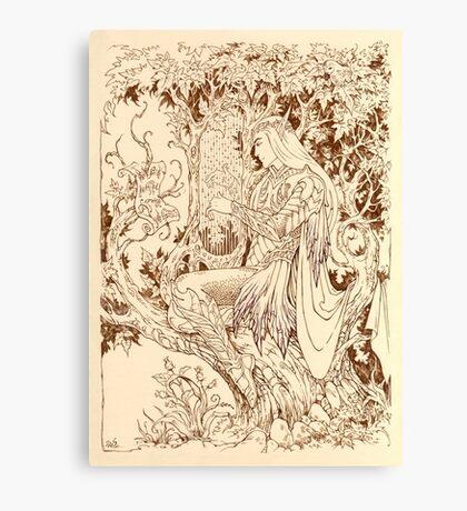 Forest harp Canvas Print