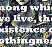 Amid The Vastness Of The Things - da Vinci Sticker