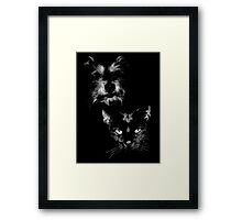 dog and cat, roger and simon Framed Print