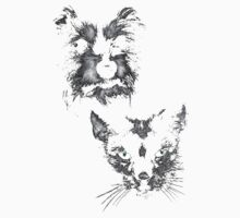 dog and cat, roger and simon Baby Tee