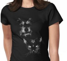 dog and cat, roger and simon Womens Fitted T-Shirt