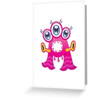 Cartoon monster letter A  Greeting Card