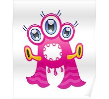 Cartoon monster letter A  Poster