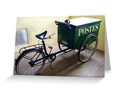 French Vintage Mail Delivery Greeting Card