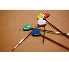 Heart Pins Photographic Print