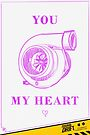 Valentine's Day Card: You Turbocharge My Heart by smgstudio
