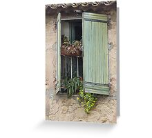 Window boxes Greeting Card