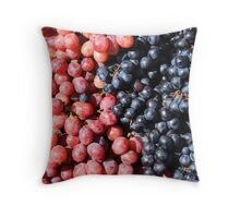 Purple and Red Grapes Throw Pillow
