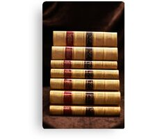 Stack of antique books Canvas Print