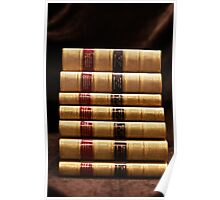 Stack of antique books Poster