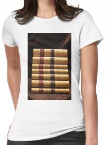 Stack of antique books Womens Fitted T-Shirt