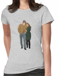 Minimalist Freewheelin' Bob Dylan Womens Fitted T-Shirt