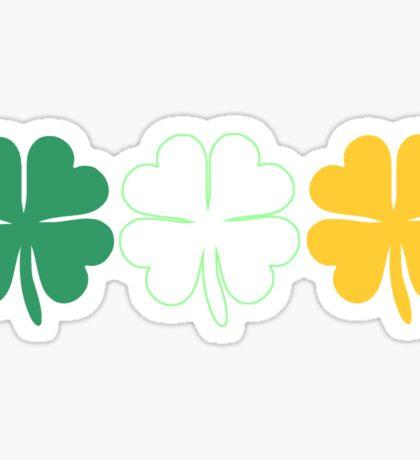 Lucky Irish Shamrock Clover Ireland Flag Sticker