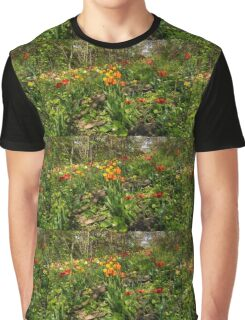 Untamed Tulip Garden - Enjoying the Beauty of Spring Graphic T-Shirt