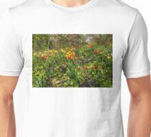 Untamed Tulip Garden - Enjoying the Beauty of Spring Unisex T-Shirt