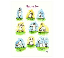 Yoga Positions Art Print