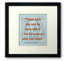 Finish Each Day - RW Emerson Framed Print