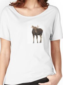 Moose in winter Women's Relaxed Fit T-Shirt