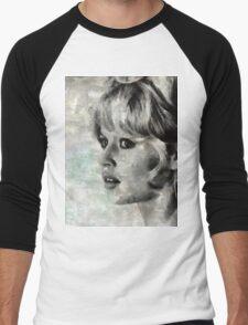 Brigitte Bardot Hollywood Icon by Mary Bassett Men's Baseball ¾ T-Shirt